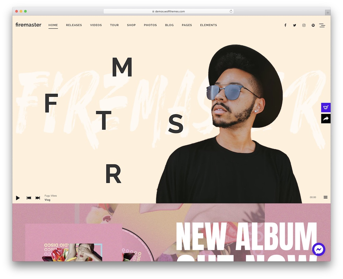 firemaster musician website template