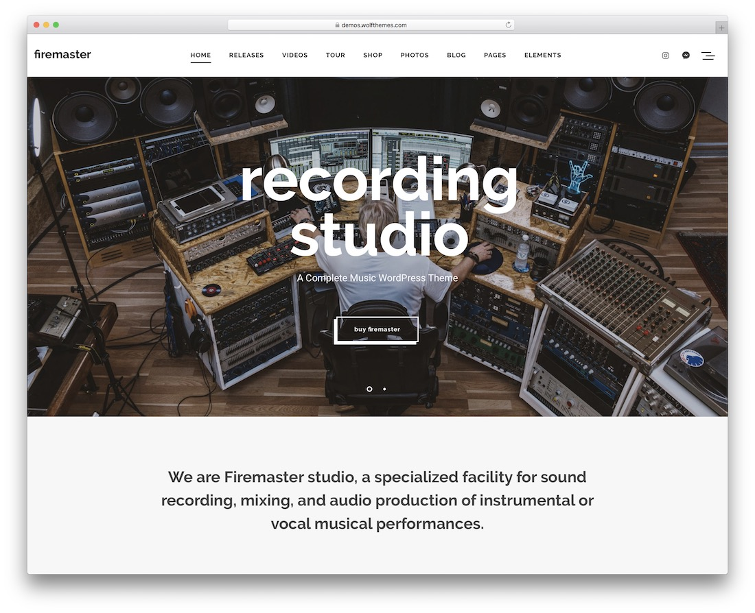 firemaster wordpress radio station theme