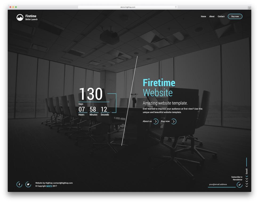 firetime mobile friendly website template