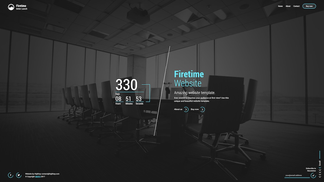 firetime mobile-friendly website template