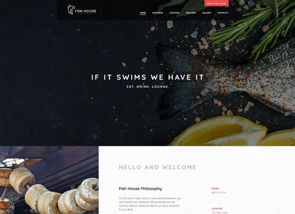 Fish House   A Stylish Seafood Restaurant / Cafe / Bar WordPress Theme