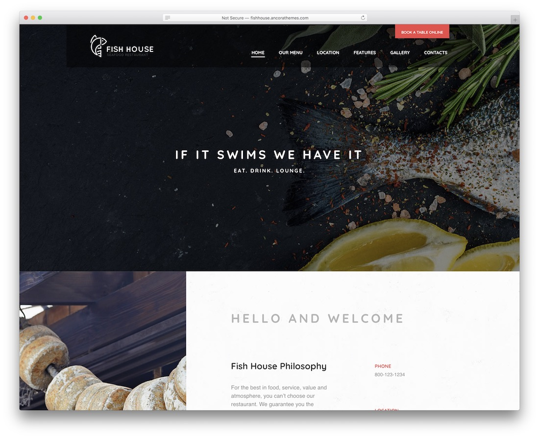 fish house wordpress fishing theme