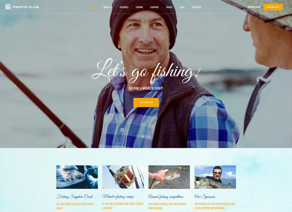 Fishing Club | Fishing and Hunting Club WordPress Theme
