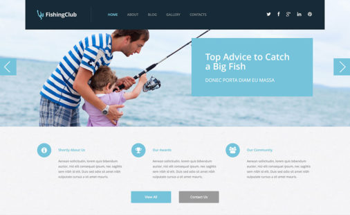 Fishing Wordpress Themes