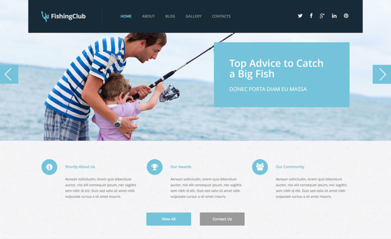Top 10 WordPress Fishing Themes For Sports And Hobby Fishing 2015