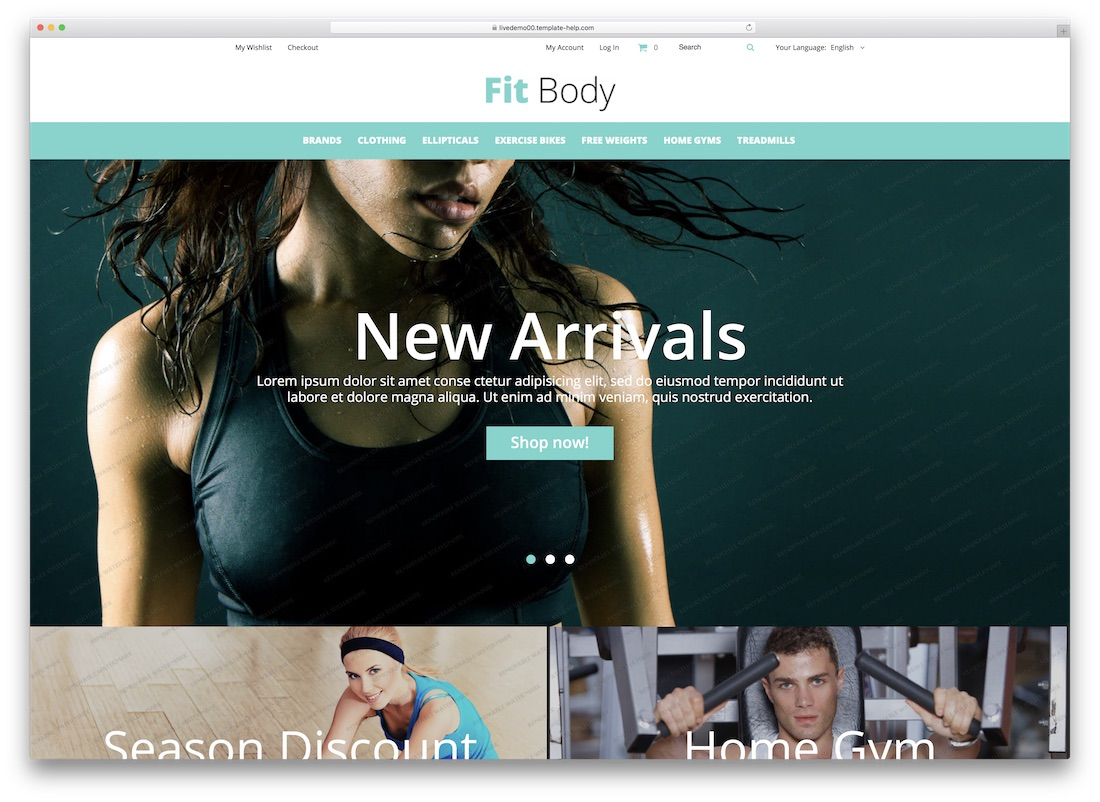 fitbody magento template