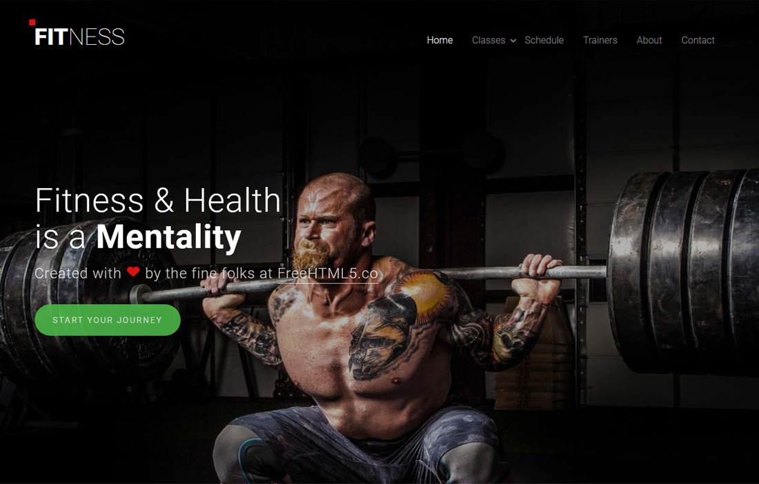 Fitness Is A Clean And Modern Looking Website Template For Gyms And Fitness  Clubs. This Template Gives You A Premium Feel In The Free Version Itself.  Fitness Templates Free