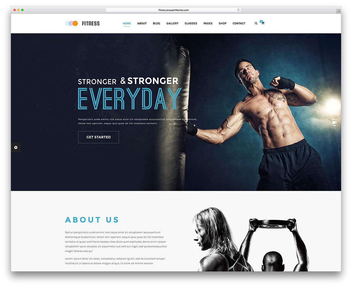 fitness best wordpress theme 2020