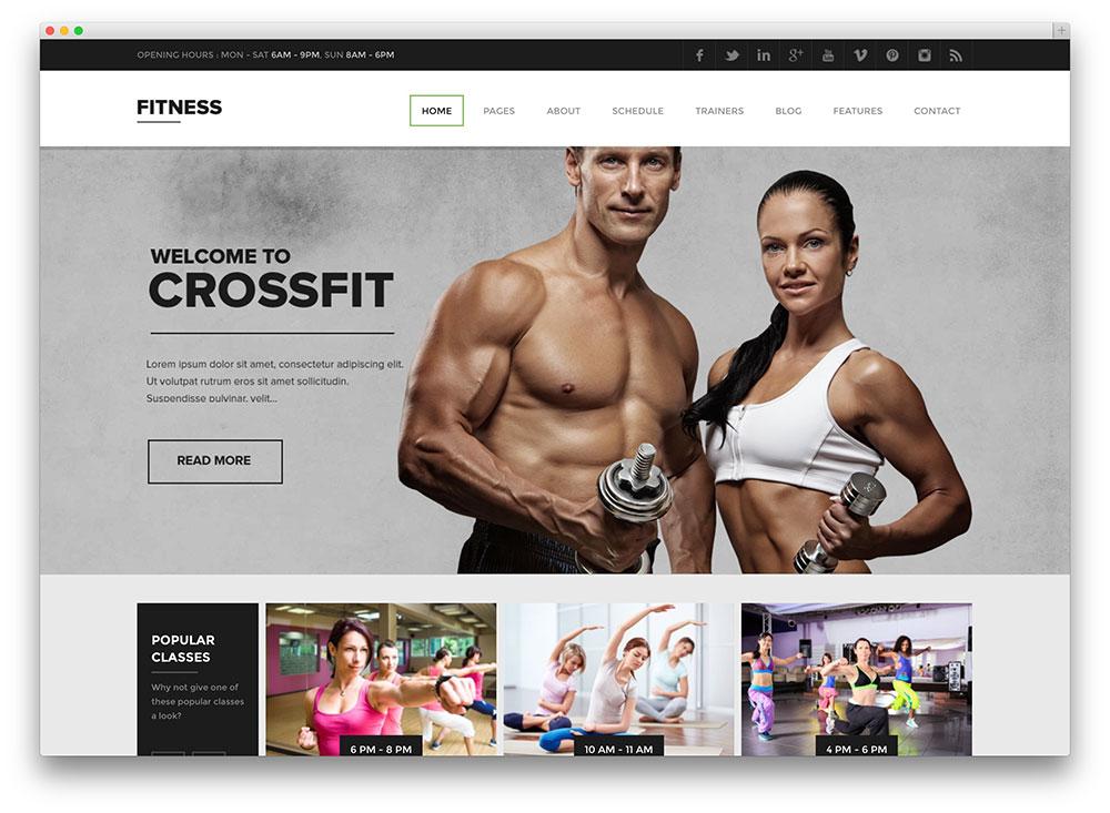 fitness premium cossfit theme