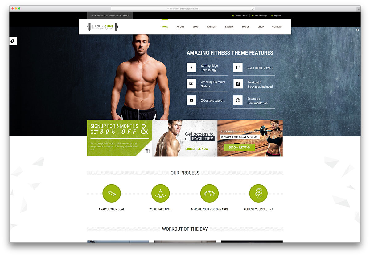 Charming Fitness Zone Healthy Lifestyle Website Template On Fitness Templates Free