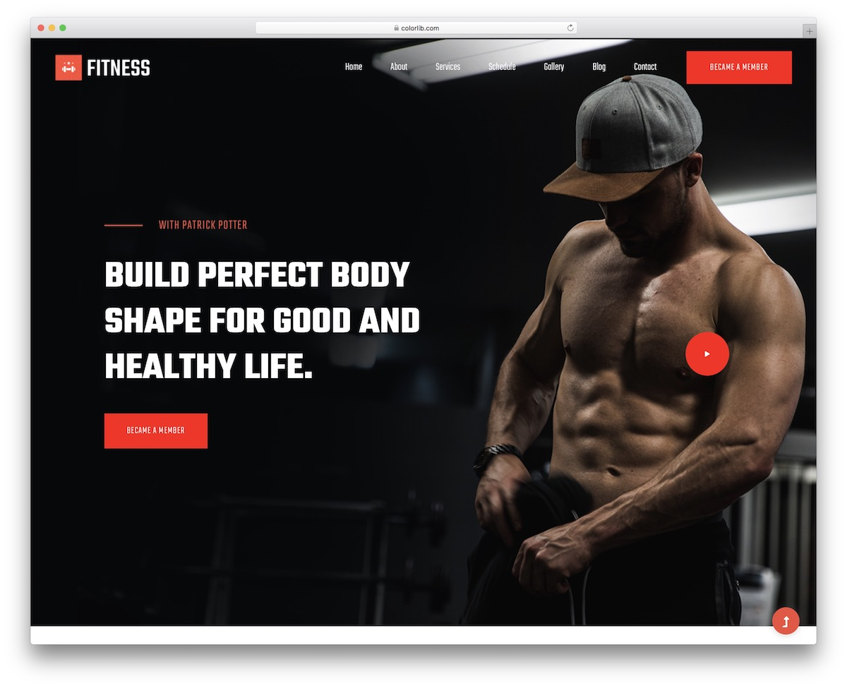 fitnessclub free template