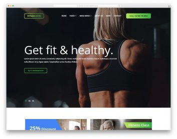 Fitnessgym Free Template