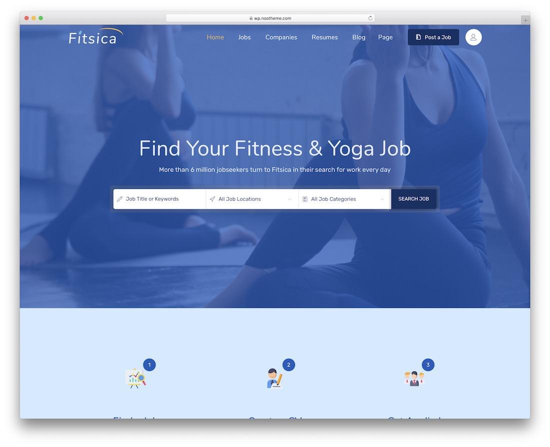 fitsica yoga wordpress theme