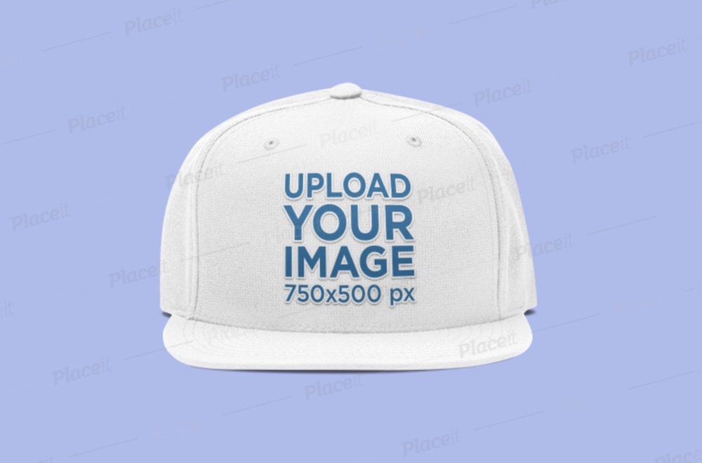 fitted hat embroidery mockup