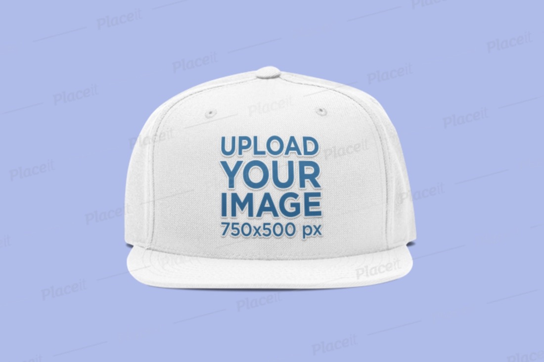 fitted hat product mockup