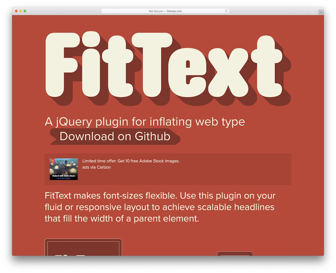 fittext web design tool