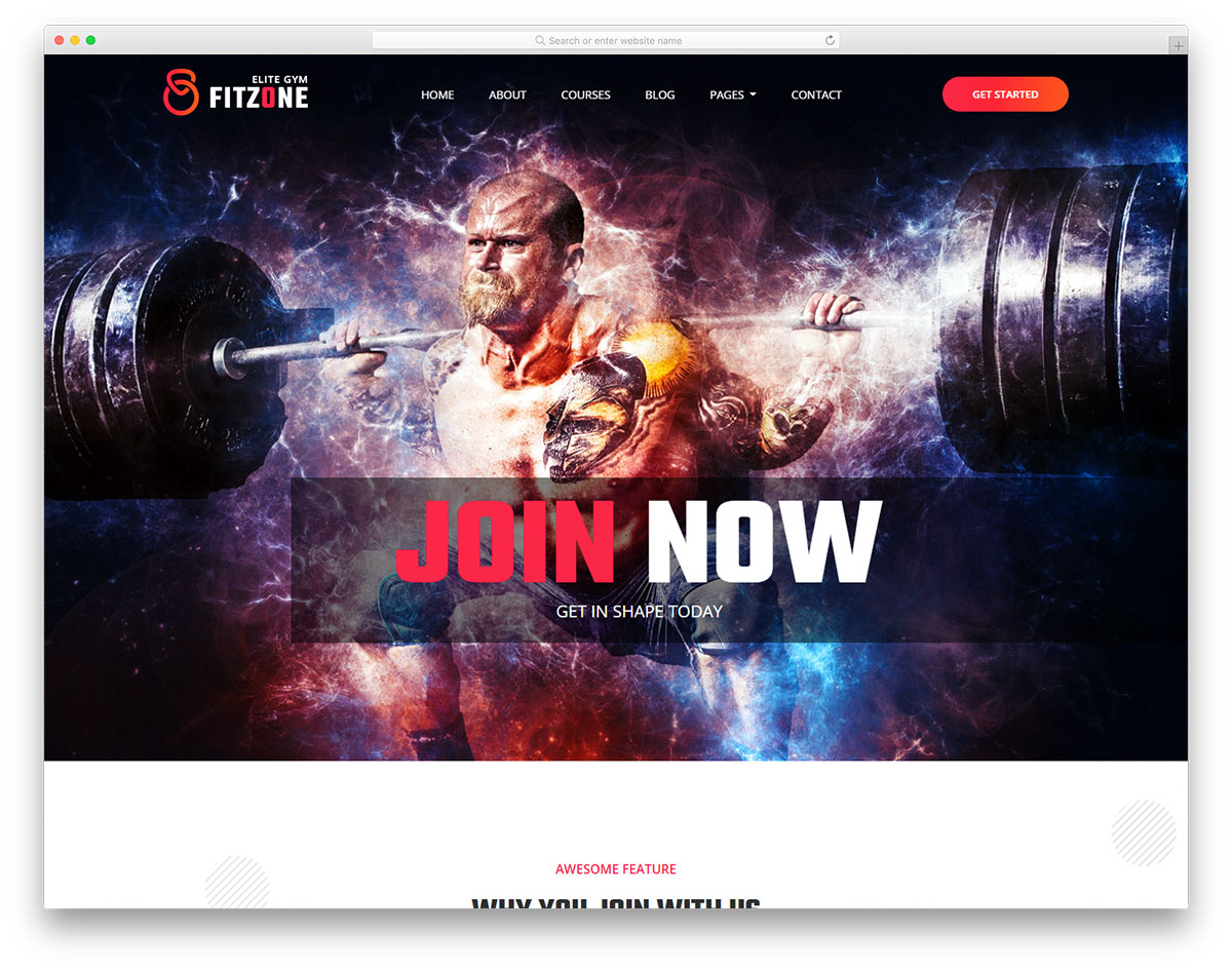fitzone2 free template
