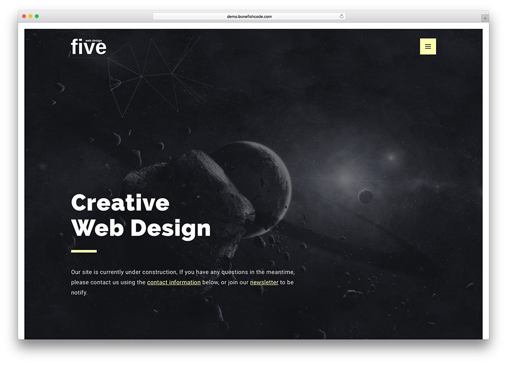 five-creative-web-design-site-under-construction-page