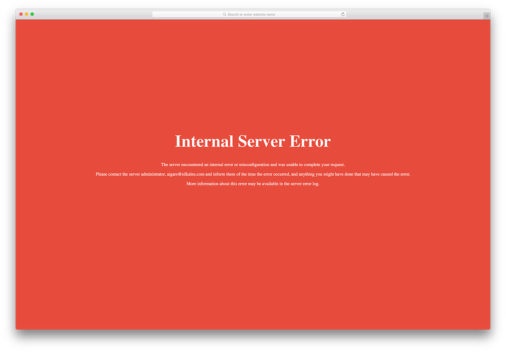 Fix Internal Server Error