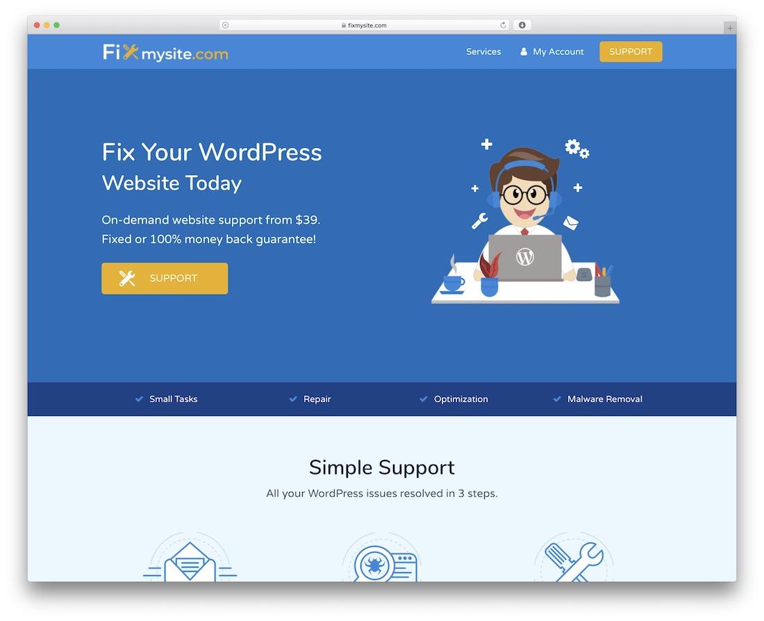 fix my site wordpress maintenance service