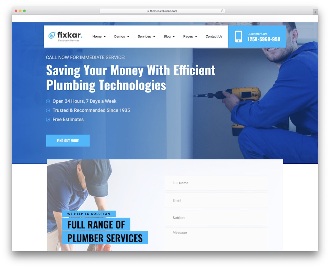 fixkar themes with appointment booking