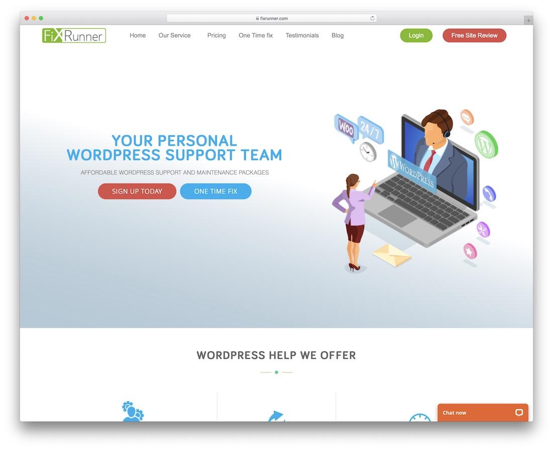 fixrunner wordpress maintenance service