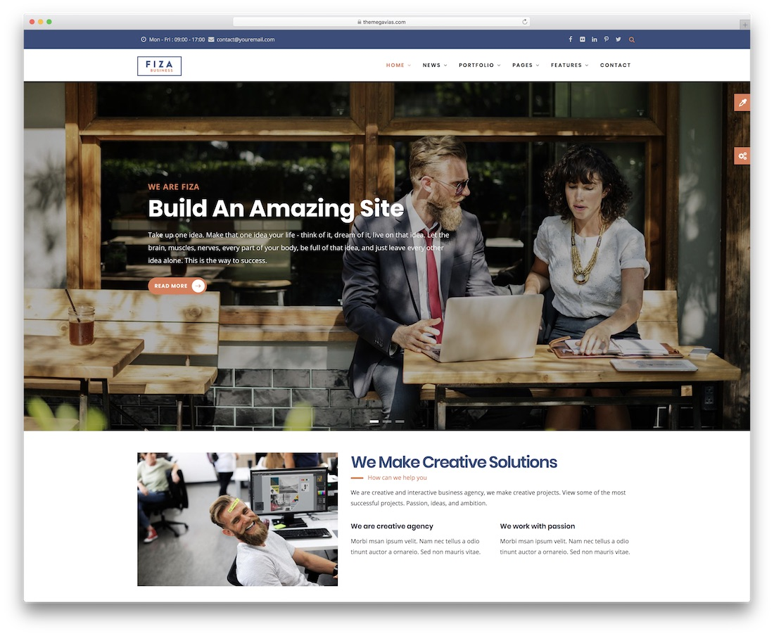 fiza drupal business template
