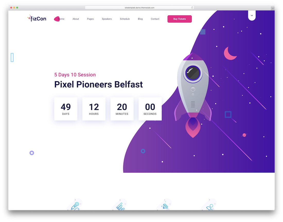 fizcon event website template