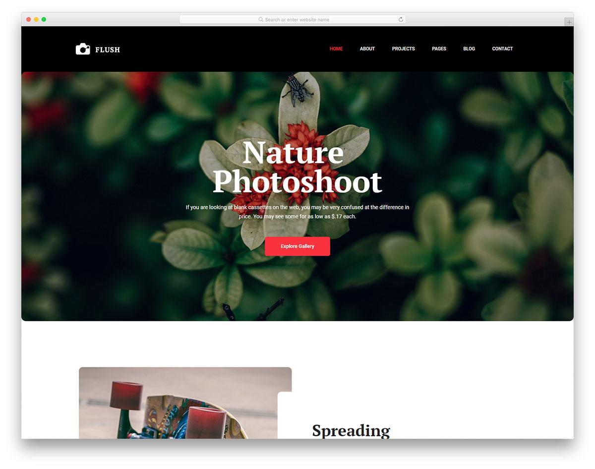 26 Best Stunning Free Photography Website Templates 2019
