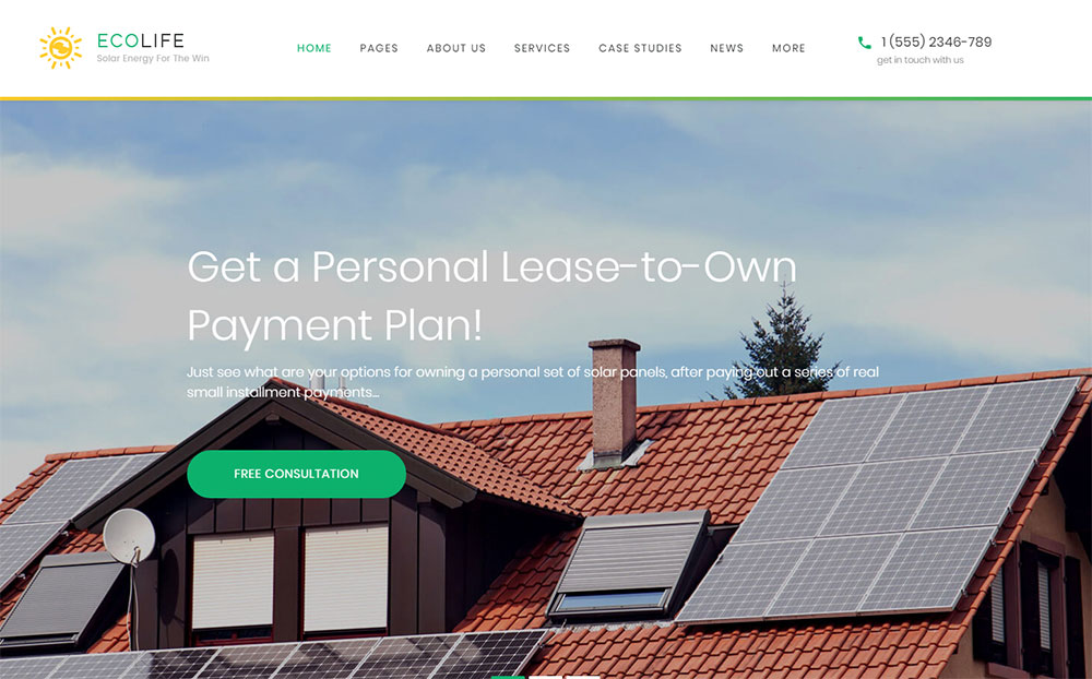Eco Homes WordPress Theme