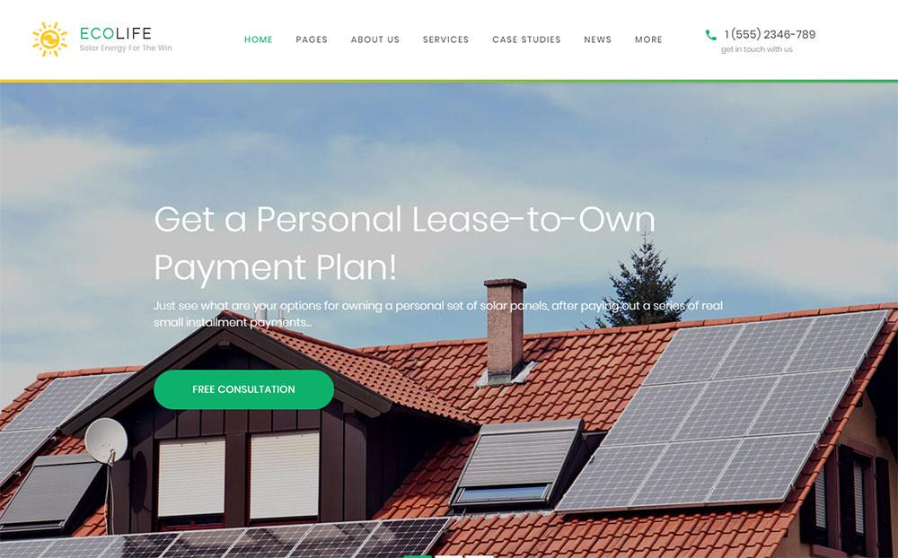 Eco Homes WordPress Theme