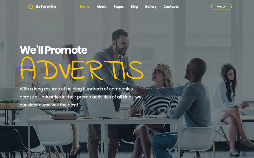 Advertis - Advertising Agency Joomla Template