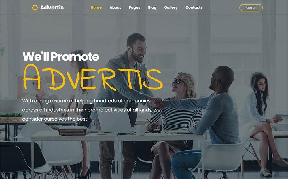 Advertis - Advertising Agency Joomla Template