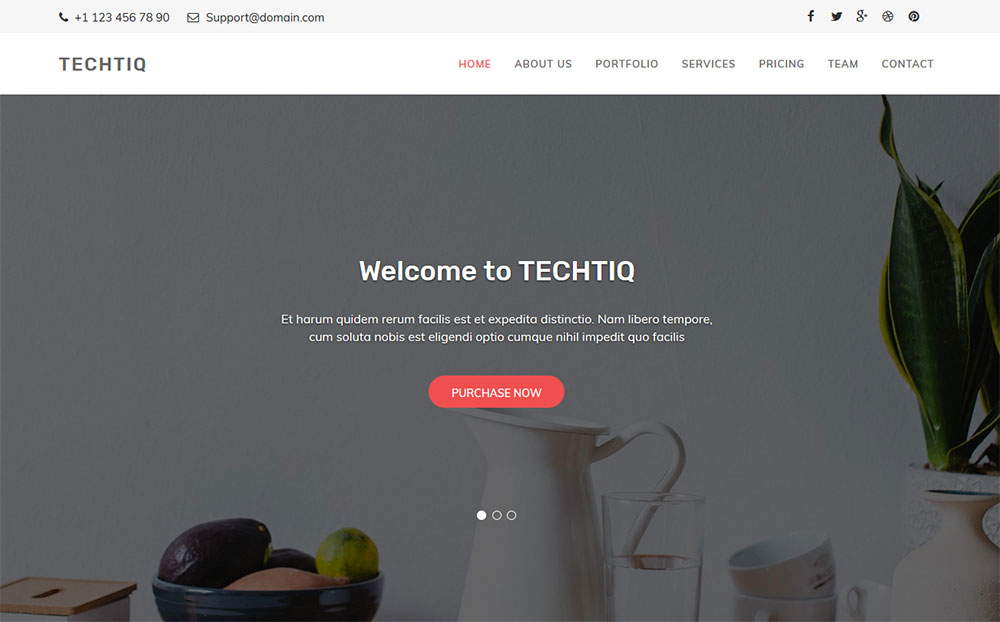 Techtiq - Responsive Multipurpose Website Template