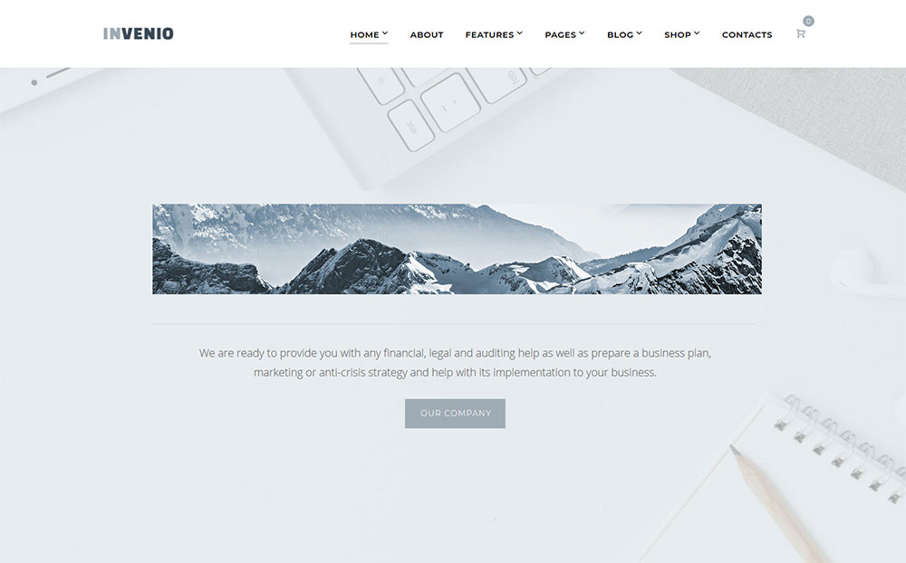 Invenio - Classy Financial Advisor WordPress Theme