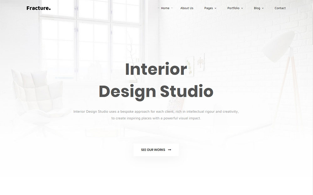 Fracture | Architecture and Interior Design Responsive Website Template