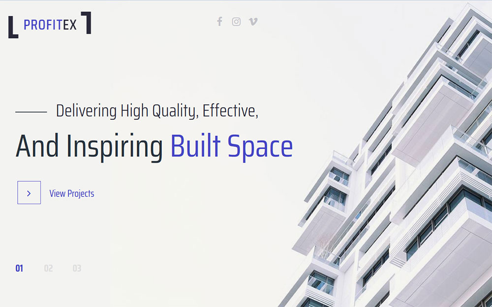 Profitex - Bright Architecture Agency WordPress Theme