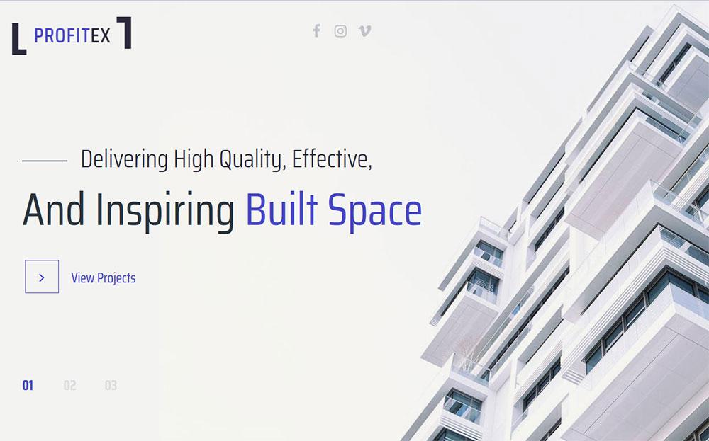 Profitex - Bright Architecture Agency WordPress Theme