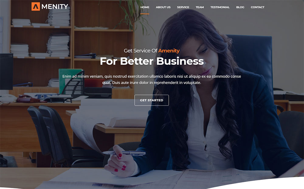Amenity - Business One Page WordPress Theme