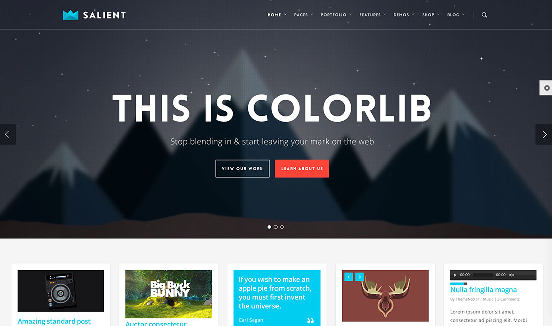 40 awesome flat design wordpress themes 2015 colorlib for Home design ideas website