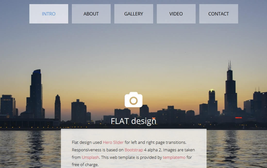 flat free bootstrap 4 portfolio website template