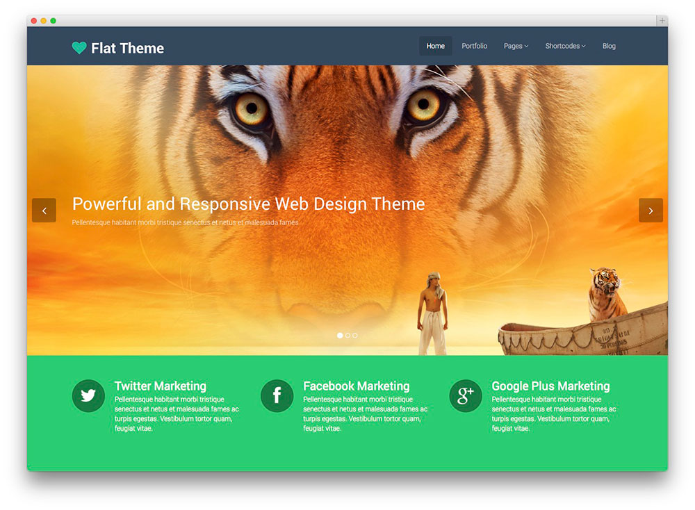 Flat Theme For Business