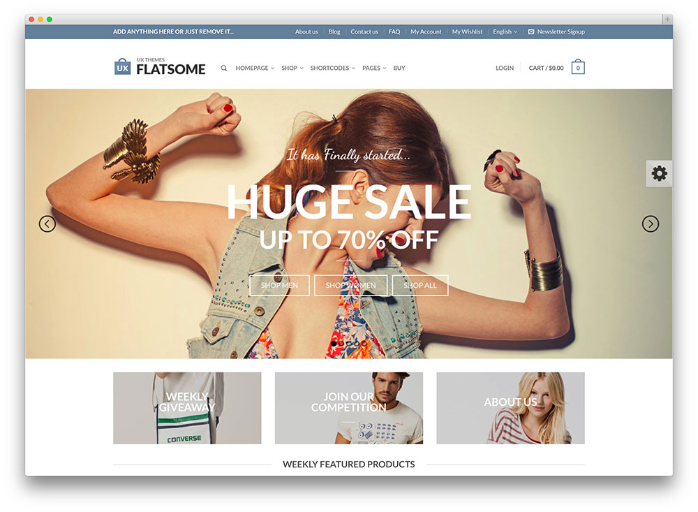 flat beautiful woocommerce wordpress theme