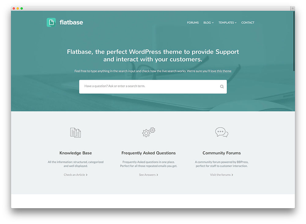 flatbase flat tech support theme