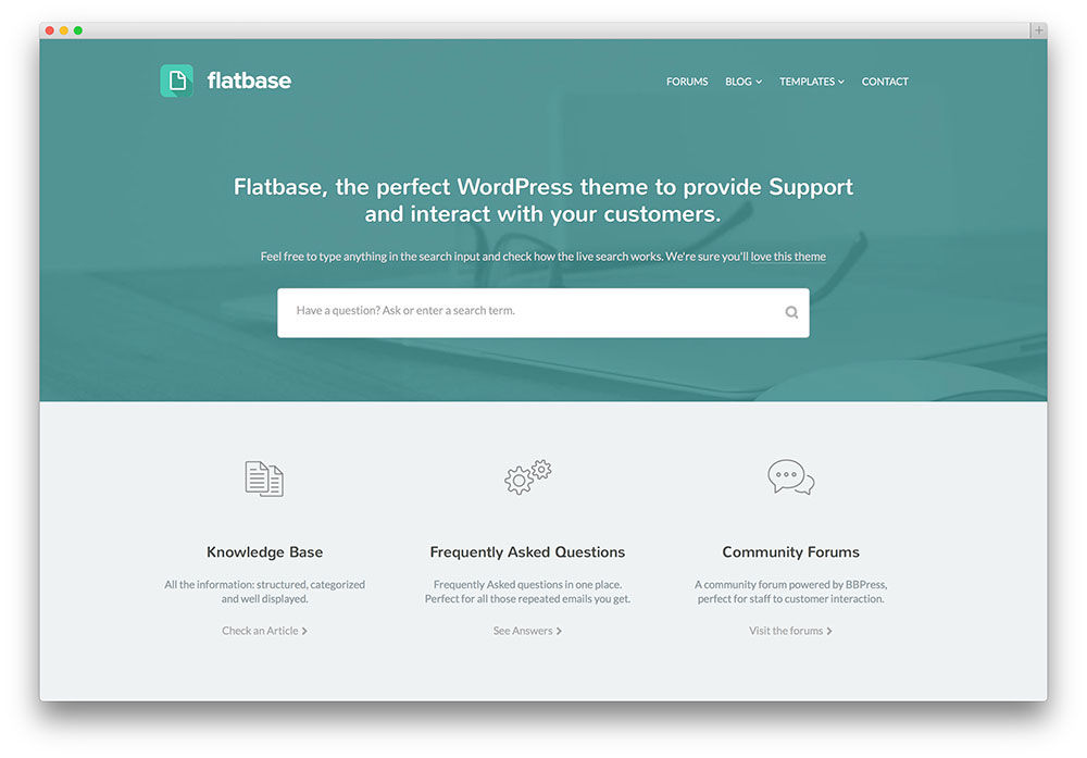 flatbase simple knowledge base theme