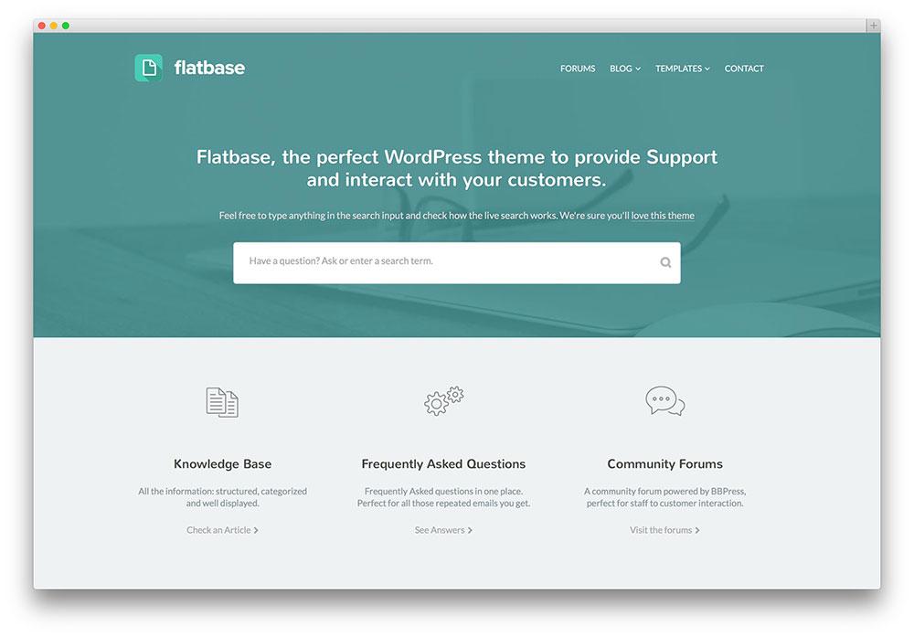 flatbase simple knowledge base theme