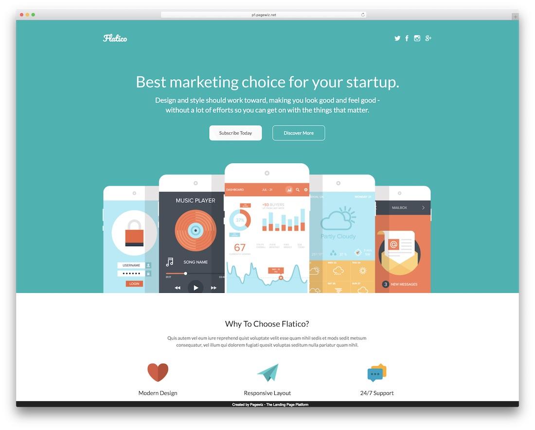 flatico pagewiz marketing template