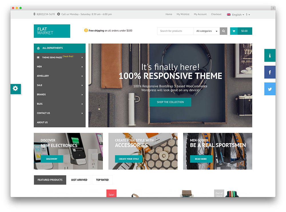 flatmarket eccentric creative wordpress shop theme