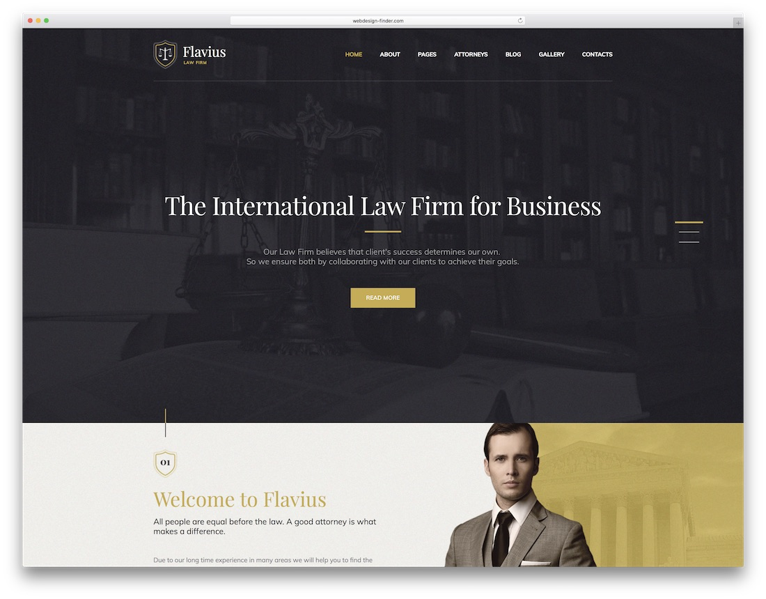 flavius lawyer wordpress theme