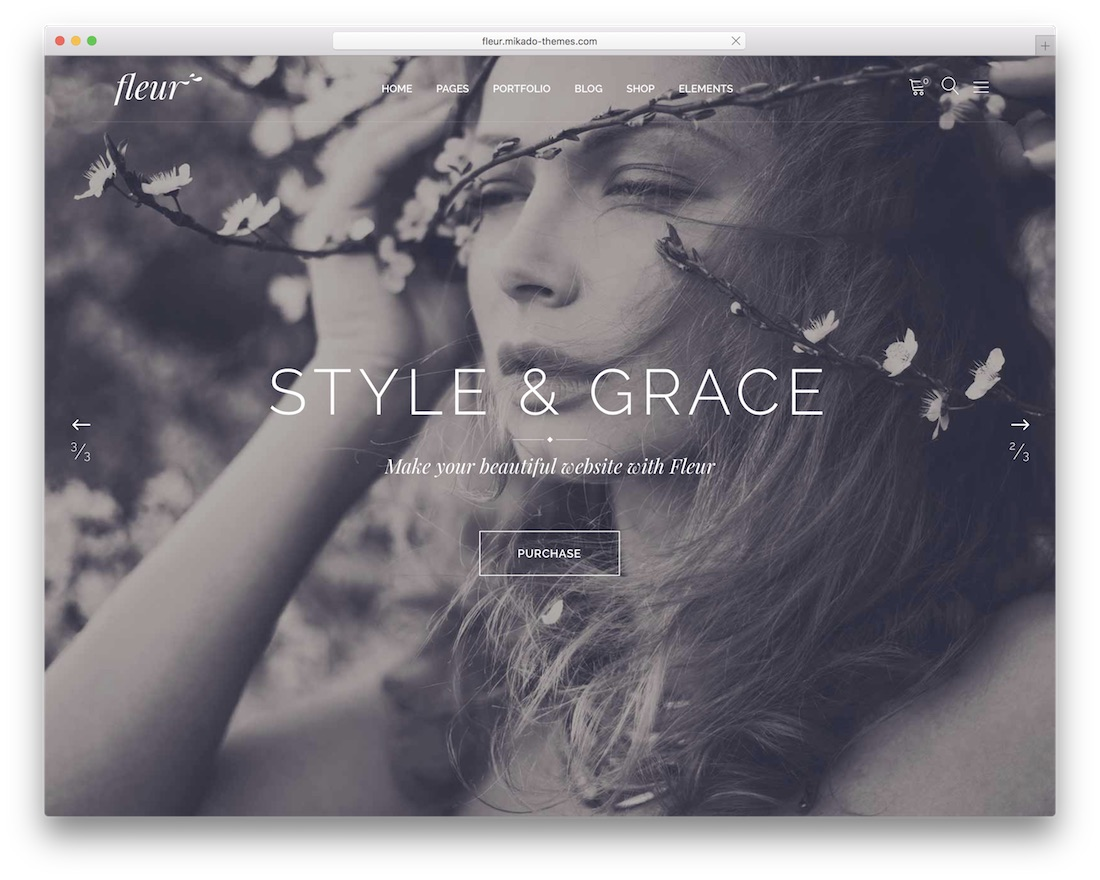 fleur wordpress wedding theme
